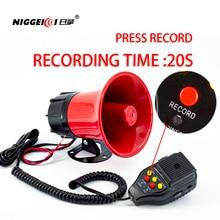 Speakers Horn Police Siren Automobiles Motorcycles Recording-Horn Alarm Car-Sound