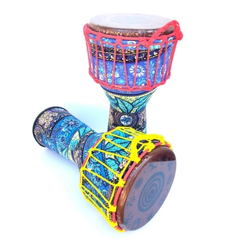 8 Inch Djembe African Drum Musical Percussion Instrument for Party Favor Random Color