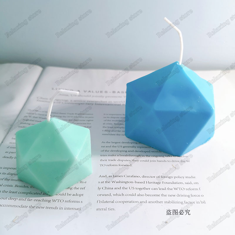 Geometric Polygon Shape Aromatherapy Candle Molds 3D Irregular Plaster Craft Silicone Mold Handmade Beeswax Candle Mould