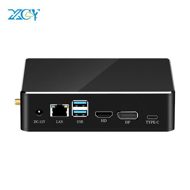 XCY Mini PC 8. Intel Core i7 8565U i5 Procesor DDR4 RAM DP HDMI M.2 NGFF 2280 SSD Win 10 Linux 4K UHD HTPC Desktop Nettop Komputer Nuc Komputery Wentylator Windows 8 Desktop Przemysłowy USB3.0 USB2.0 Htpc Micro MINIPC