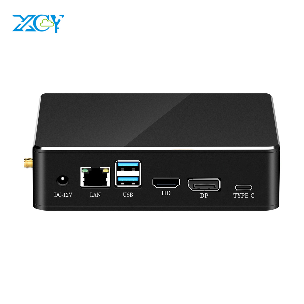 XCY Mini PC 8th Intel Core I7 8565U I5 Processor DDR4 RAM DP HDMI M.2 SSD Win 10 Linux 4K UHD HTPC Desktop Nettop Computer Nuc