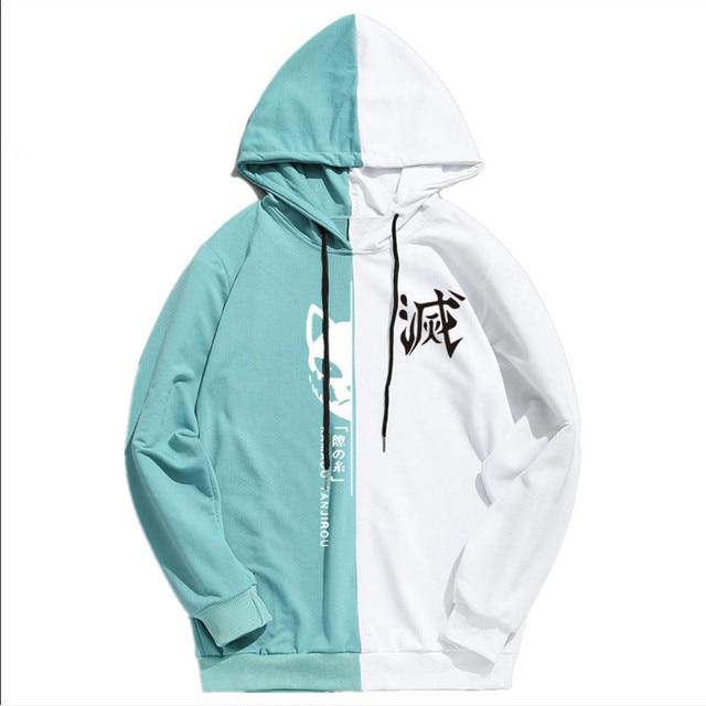 Summer Anime Demon Slayer Men's Sportswear Hoodie Tanjiro Print Printing Double Color Hoodies Sweatshirt Harajuku Thin Clothing 5