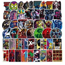 100Pcs Marvel The Avengers Cartoon Sticker Waterproof for Laptop Moto Skateboard Luggage Guitar Furnitur Decal Toy Stickers