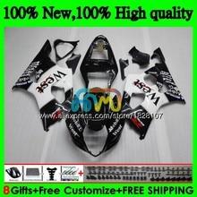 Корпус для SUZUKI GSXR-1000 GSXR1000 03 04 41BS. 6 черных масок west 1000CC GSX-R1000 GSX R1000 03 04 K3 GSXR 1000 CC 2003 2004 Обтекатель