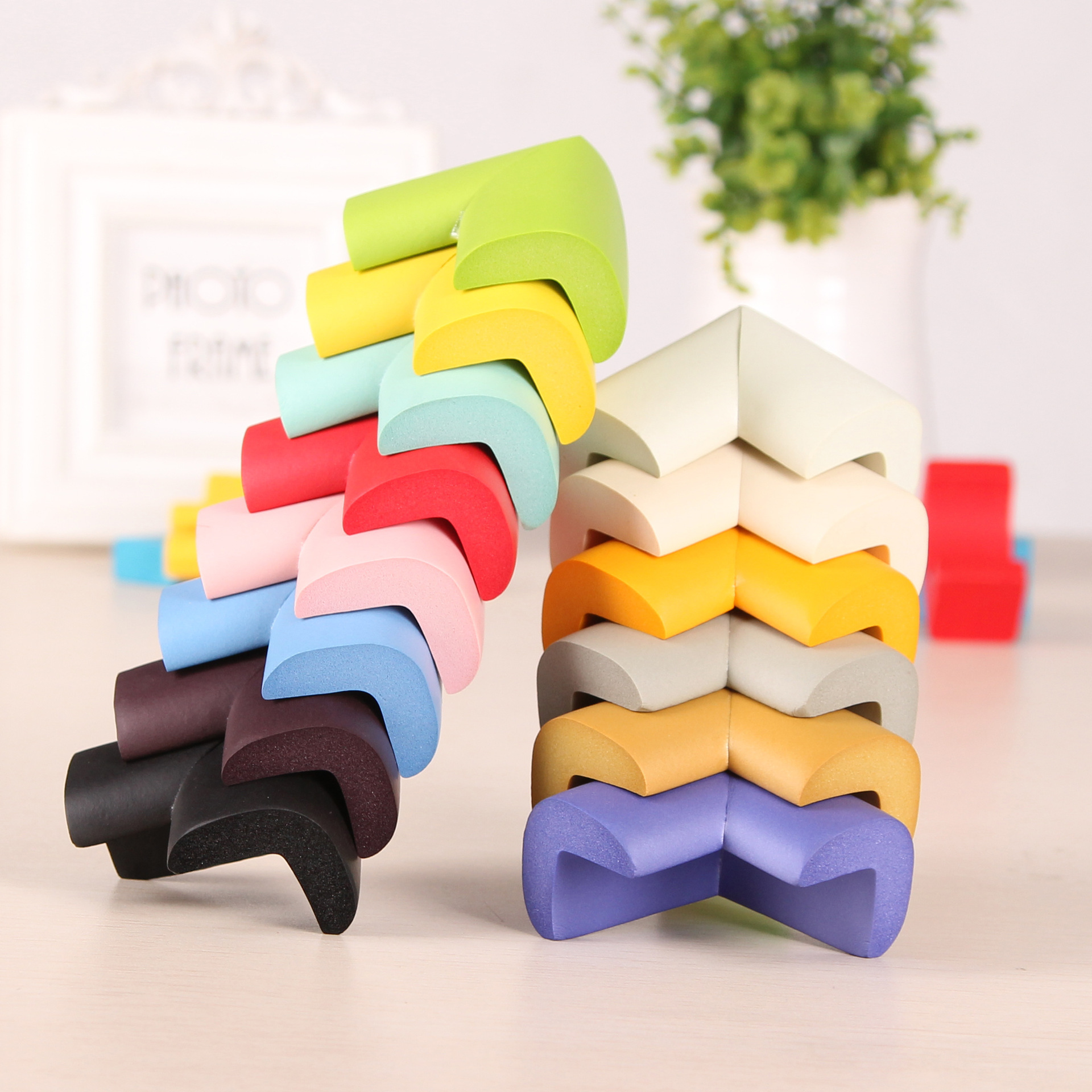 4PCs Colorful Baby Safety Protector Table Corner Desk Protection Children Anticollision Edge Thicken Soft Child Corner Guards