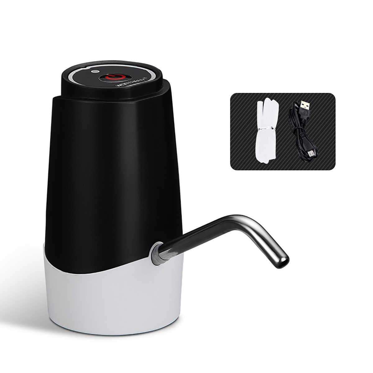 USB الكهربائية مضخة مياه موزع مياه قابلة للشحن الفولاذ المقاوم للصدأ الأنابيب الصلبة الغذاء الصف سيليكون لشرب زجاجات مياه
