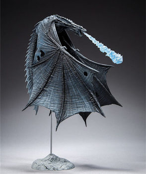 [Funny] Game of Thrones Viserion Ice Dragon McFARLANE Deluxe Figure Collection model Toys kids child gift