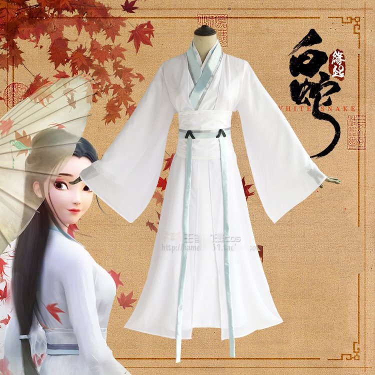 Blanc serpent Anime Xu Xuan Couple Cosplay Costumes Cos chinois histoire d'amour Bai SuZhen Cos halloween costume pour hommes femmes adulte