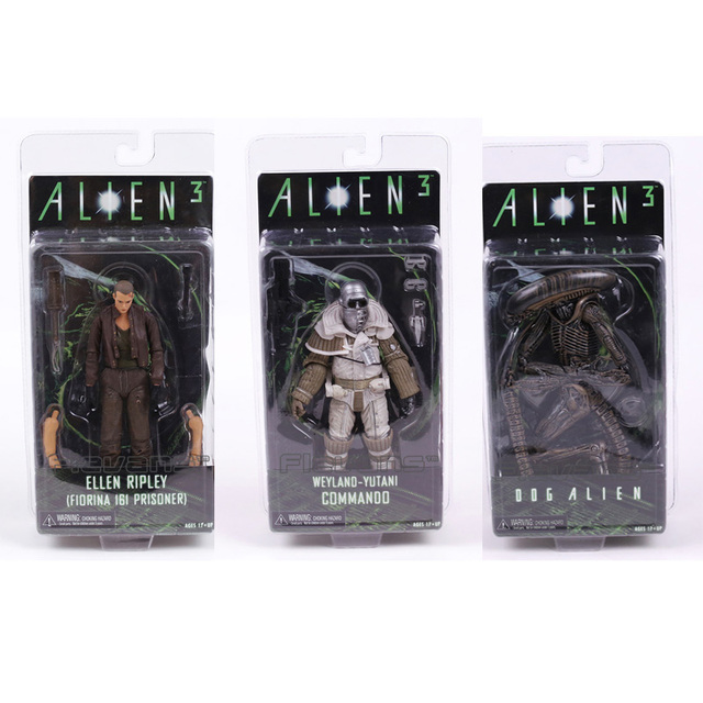 NECA ALIEN 3 Ellen Ripley / Dog Alien / Weyland Yutani Commando Collection 7 Action Figure Model Toy