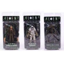 Neca alienígena 3 ellen ripley/cão, alienígena/weyland yutani, comando coleção, 7 , figura de ação, modelo, brinquedo
