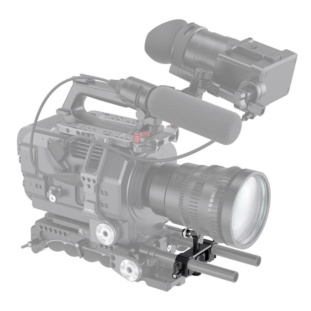 2727 SMALLRIG Universal 15mm LWS Rod Mount Lens Support Bracket Height Adjustable for DSLR Camera Shoulder Rig