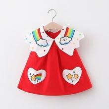 Женское летнее платье для маленьких девочек милое мультяшное