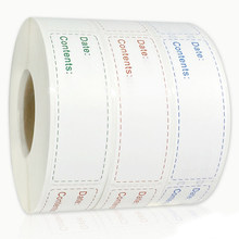 Etiqueta do conteúdo da data do armazenamento do alimento do congelador do refrigerador da etiqueta da cozinha de 150 pces/rolo