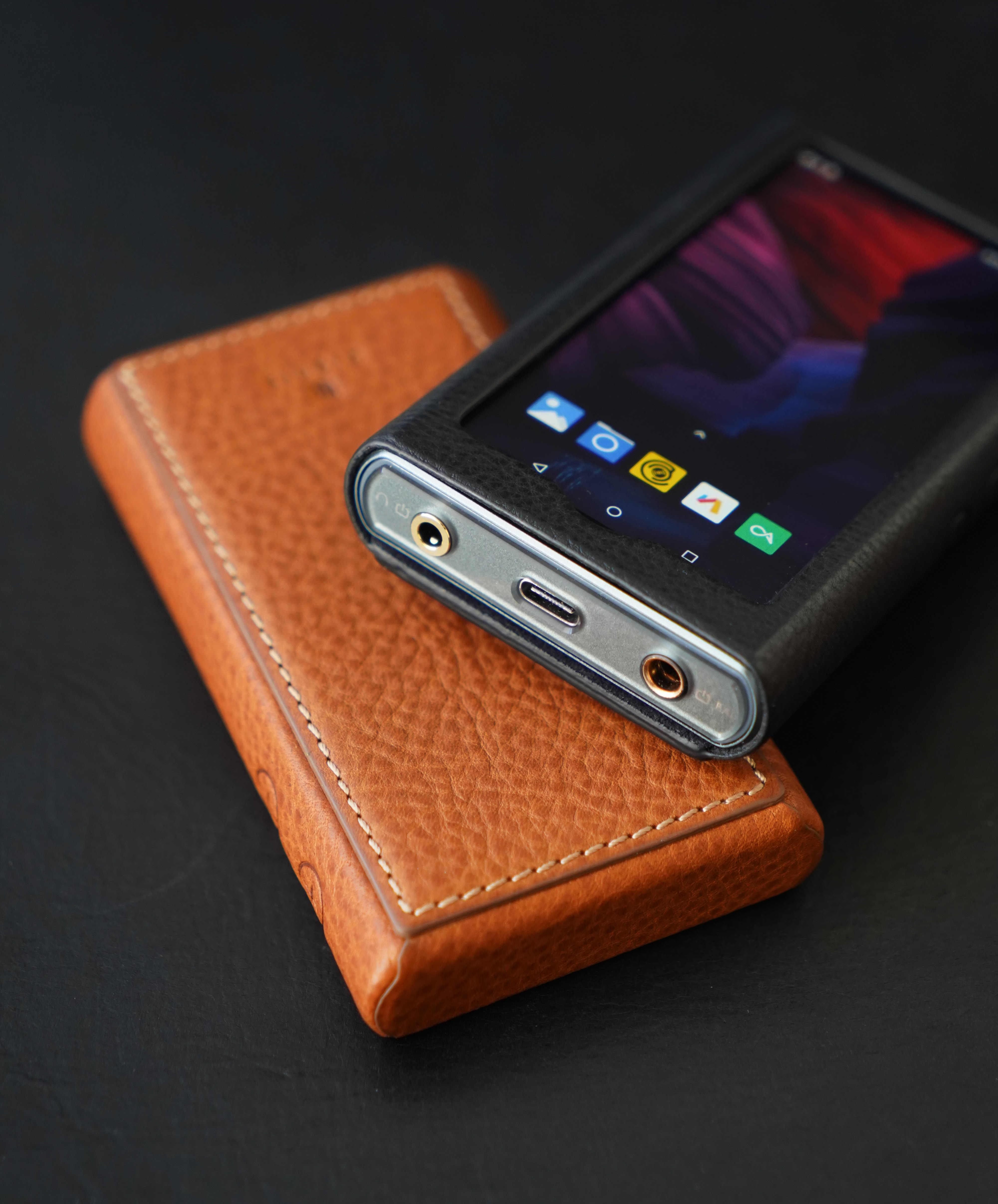 Dignis Leder Fall für HiBy R5 Hohe Auflösung Audio Tragbare Player Hallo-Res Musik Player Bluetooth MP3 Player HiFi