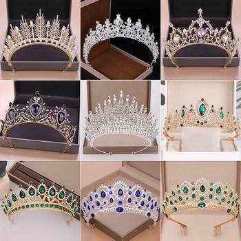 Wedding Crown Bridal Headpiece Gold Silver Color Rhinestone Crystal Diadem Queen Crown Princess Tiaras Wedding Hair Jewelry 1
