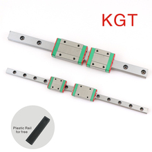 KGT Miniature linear guide rail carriage MGN7 MGN9 MGN12 MGN15 slide block  L100 200 300 350 400 500 600 800mm guides 3D Printer