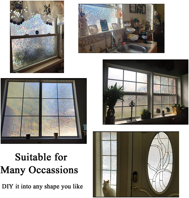 Decorative 3D Window Privacy Film Stained Glass Window Sticker,Window Self-adhesive Vinyl Static Anti Uv Glass Tint Film 6