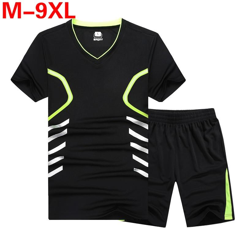 Summer New Men's Shorts Casual Suit Sportswear Tracksuit Men Sets Pants Male Sweatshirt Men Brand Clothing Plus Size 7xl 8xl 9xl