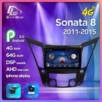 4G Lte Android 9.0 Car multimedia navigation GPS DVD player For Hyundai Sonata I40 I45 I50 2011-2015 years IPS screen Radio