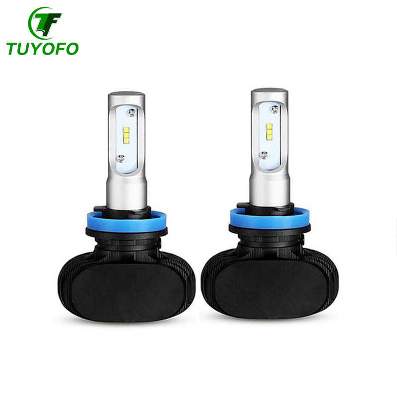 TUYOFO 2PCS S1 Led H1 H3 H4 H7 H11 H13 9004 9005 9006 9007 880 Car Headlight Auto Fog Lamp 25W 4000LM Automobile Bulb Chips CSP