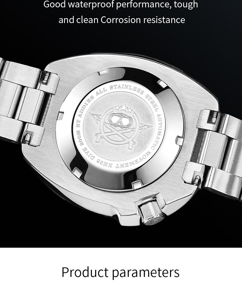 H2f7aa752a9734abcae2b0d27fc710a99o 1970 Abalone 200m Diver Watch Sapphire crystal calendar NH35 Automatic Mechanical Steel diving Men's watch
