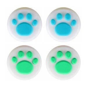 Image 5 - YuXi 4pcs Animal Crossing Cat Paw & Leaf 닌텐도 스위치/라이트 조이 콘 스틱 그립 케이스 조이스틱 캡 용 아날로그 엄지 그립