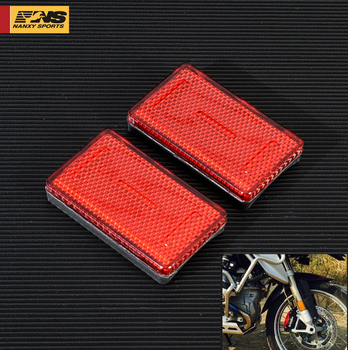 1Pair Motorcycle ABS Plastic Front Fork Leg Reflective Reflector For BMW K1200RS K1200GT Model Motor Red Yellow Amber 3Colors image