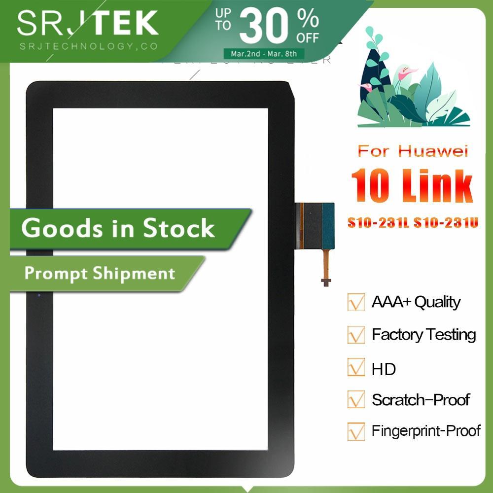 Srjtek For HUAWEI MediaPad 10 Link S10-231L S10-231U New Black Touch Screen Panel Digitizer Sensor Glass Repair Replacement