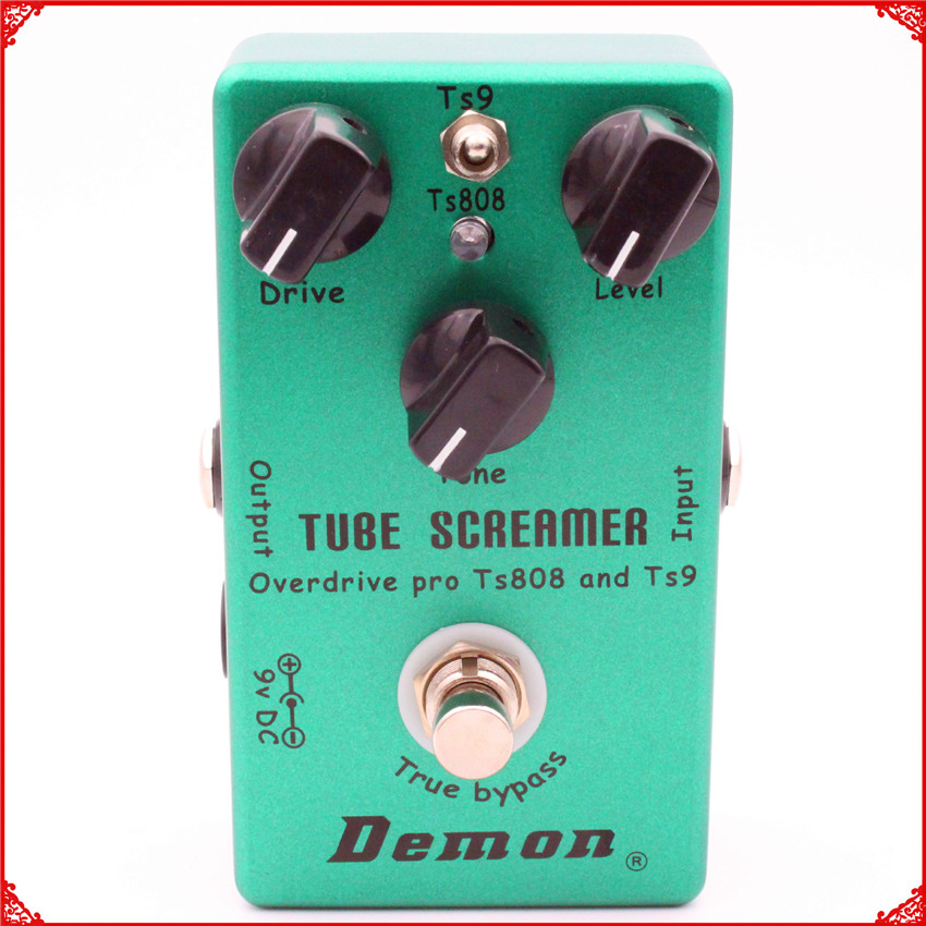 Hand Made Guitar Effect Pedal TS9 and <font><b>TS808</b></font> Tube Screamer 2 In 1 Overdrive and True Buypass Drop Shipping Tube Screamer image