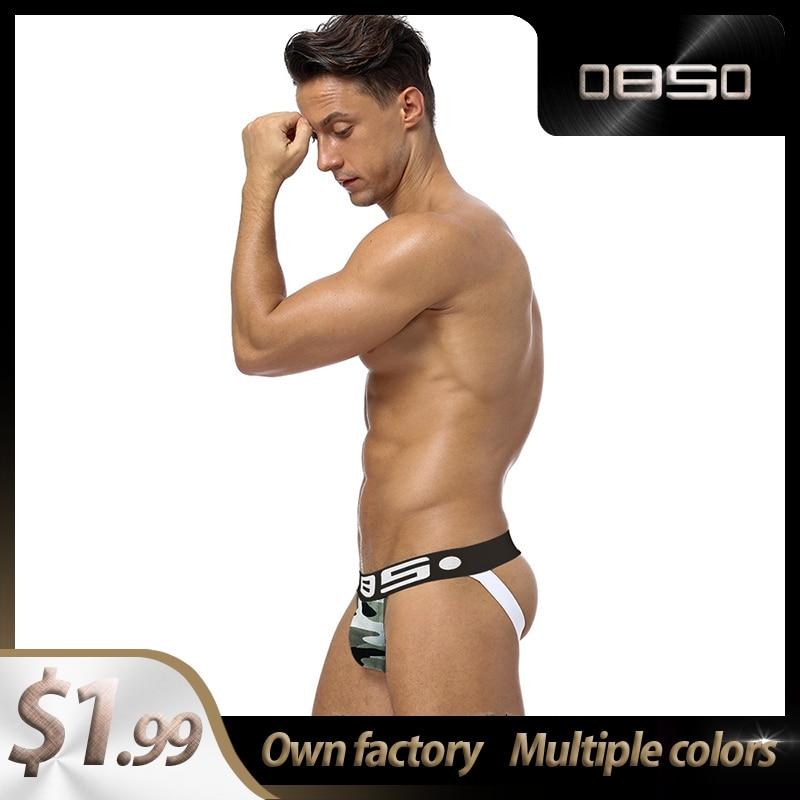Hot Sale LOGO Cotton Breathable BS Gay Men Sexy Underwear Thong Men Jockstrap Sissy Panties Mens Thongs And G Strings BS143