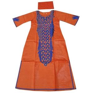 Image 4 - MD dashiki แอฟริกันสำหรับผู้หญิง Bazin PLUS ขนาดชุดพิมพ์แอฟริกันแบบดั้งเดิมเย็บปักถักร้อยฝ้ายแอฟริกาชุดหัว wraps