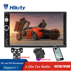 Image 1 - Hikity Car Radio Player Mirror Link autoradio 2 din 7 LCD Touch Screen Car Stereo MP5 Bluetooth auto stereo Rear View Camera
