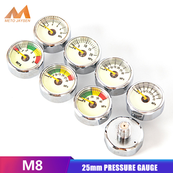 PCP Paintball Scuba Din Valve Regulator Pump Luminous Mini Air Pressure Gauge Manometre 10Mpa 30Mpa 40Mpa 1 Inch M8x1 Thread