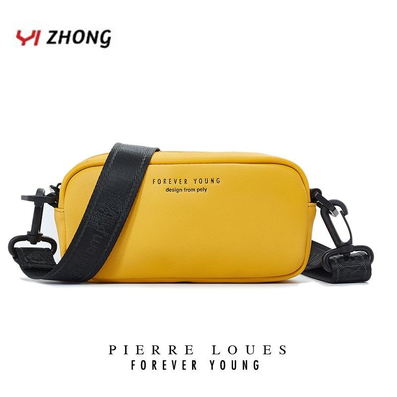 YIZHONG Leather Shoulder Bag Soft Purses And Handbags Luxury Designer Crossbady Bags For Women High Quality Message Bag Cartera