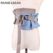 Рейни Шон холст широкие пояса для женщин плед платья широкие пояса бренд дизайнер высокое мода дамы рубашка корсет пояс