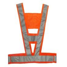 Для мужчин и женщин V образный светоотражающий дорожный Портативный Открытый Удобный легко чистить регулируемый высокая видимость защитный жилет безопасности