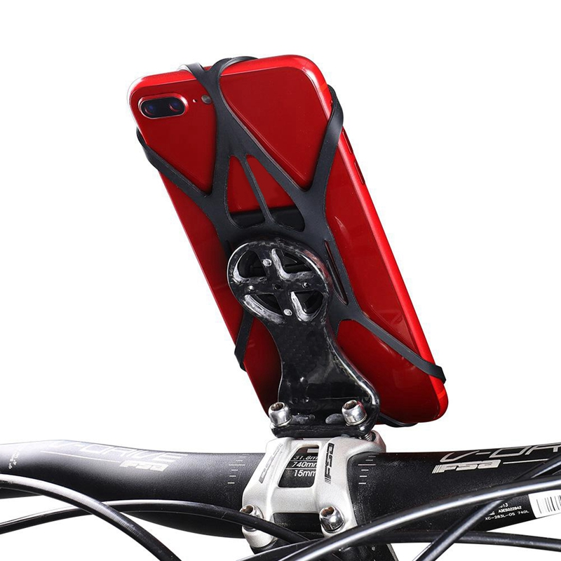 1Pc Strong Phone Adhesive Adapter Bicycle Phone <font><b>Sticker</b></font> <font><b>Bike</b></font> Computer Holder <font><b>GPS</b></font> Mount Stand with Silicone Strap for Bryton Edge image