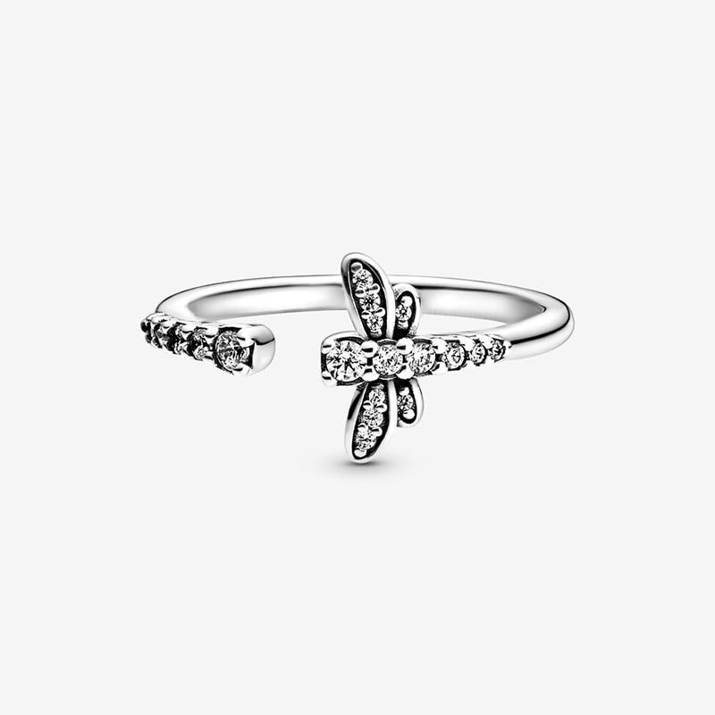 Bague en argent Sterling 2020 pour femmes, couronne de fleur de marguerite scintillante, bijou de fiançailles, printemps, 925 4