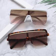 Oversized Sunglasses Women 2020 Luxury Brand Fashion Black Shield