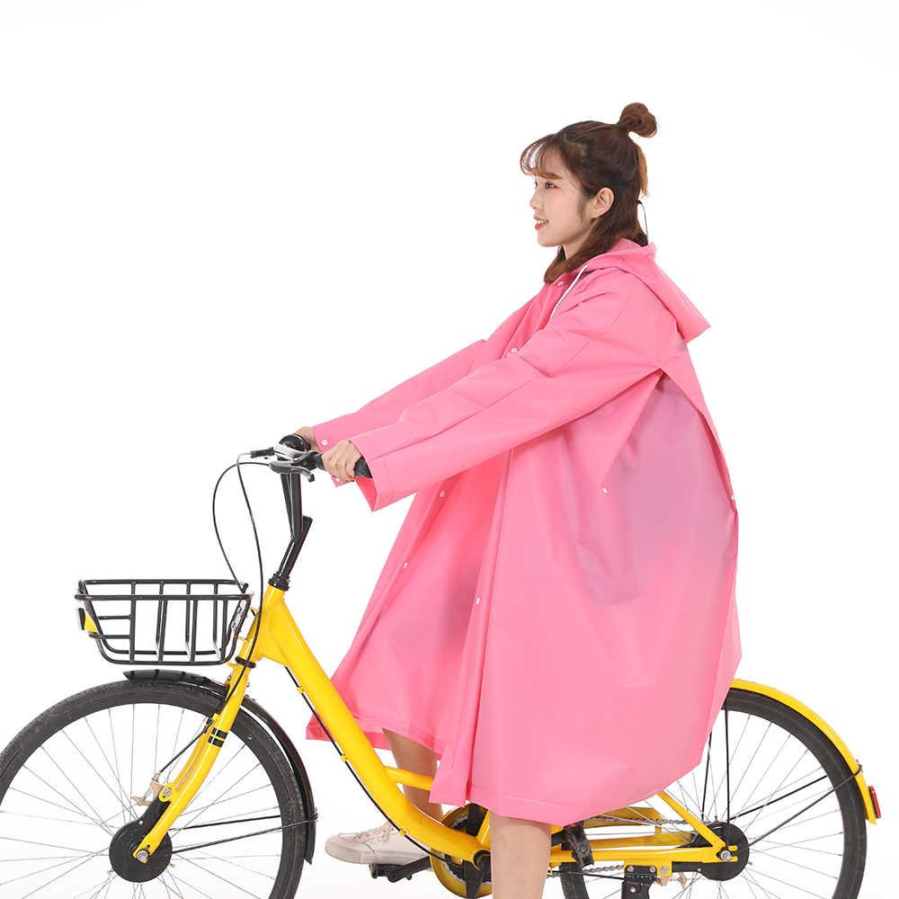 Мода eva женский плащ утолщенный водонепроницаемый дождевик женский прозрачный Кемпинг непромокаемый плащ костюм для верховой езды 9