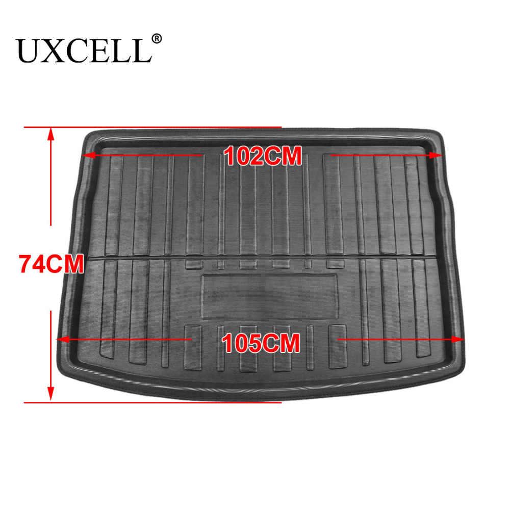 UXCELL PE + EVA رغوة البلاستيك الخلفي الجذع التمهيد بطانة البضائع حصيرة الطابق صينية السجاد ل VW جيتا سيدان تيجوان جولف 6 7 MK7 بولو 09-17