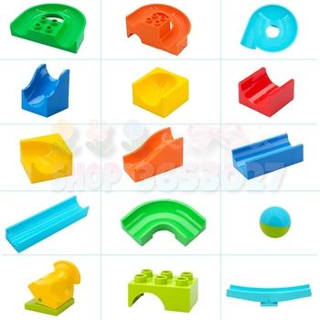 DIY Big Size slajdów klocki losowy kolor duże cząstki klocki edukacyjne akcesoria kreatywne dzieci dziecko zabawka dla dziecka tanie i dobre opinie 12 + y 7-12y 18 + CN (pochodzenie) Kompatybilne z lego Duplo Unisex Certyfikat AGC11062200801-T001 DIY Big Size Slide Building Blocks Random Color Large Particle Bricks