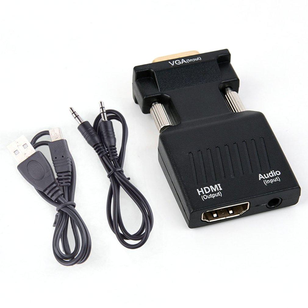 VGA мужчин и женщин HDMI конвертер с аудио адаптер Кабели 1080P для HDTV монитор проектор ПК PS3
