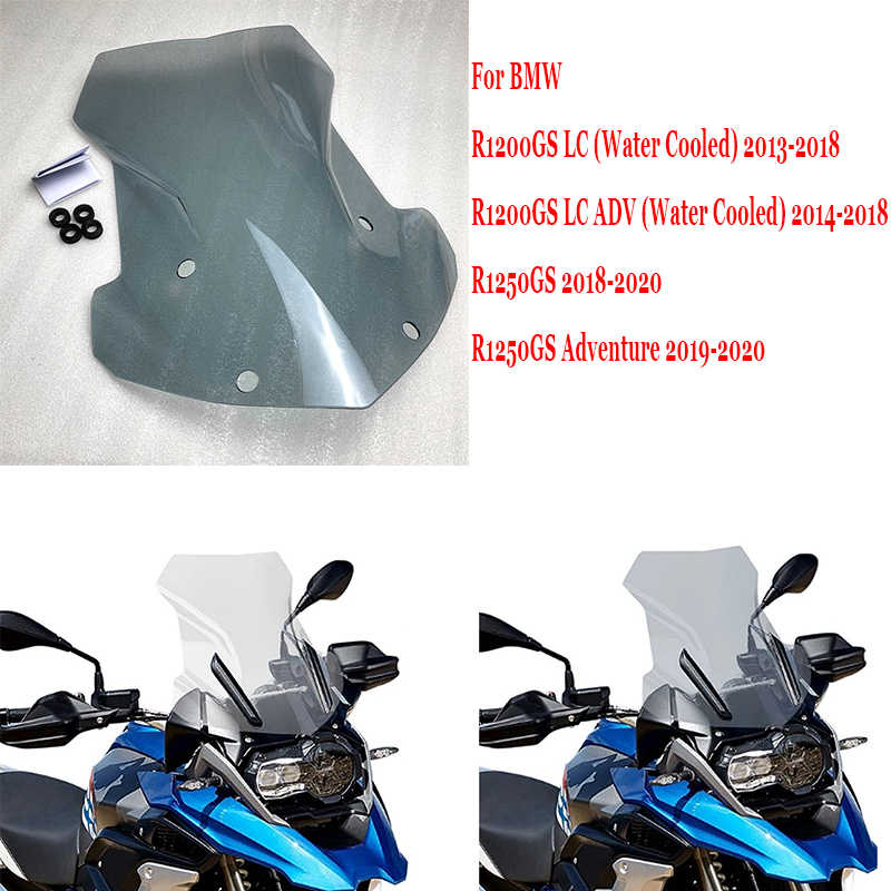 Protective cover For BMW R1200GS ADV LC R1250GS 2013-2019 Motorcycle Windscreen Windshield Deflector Protector Motorcycle Wind Screen Motorcycle Windshield Color : Light Smoke