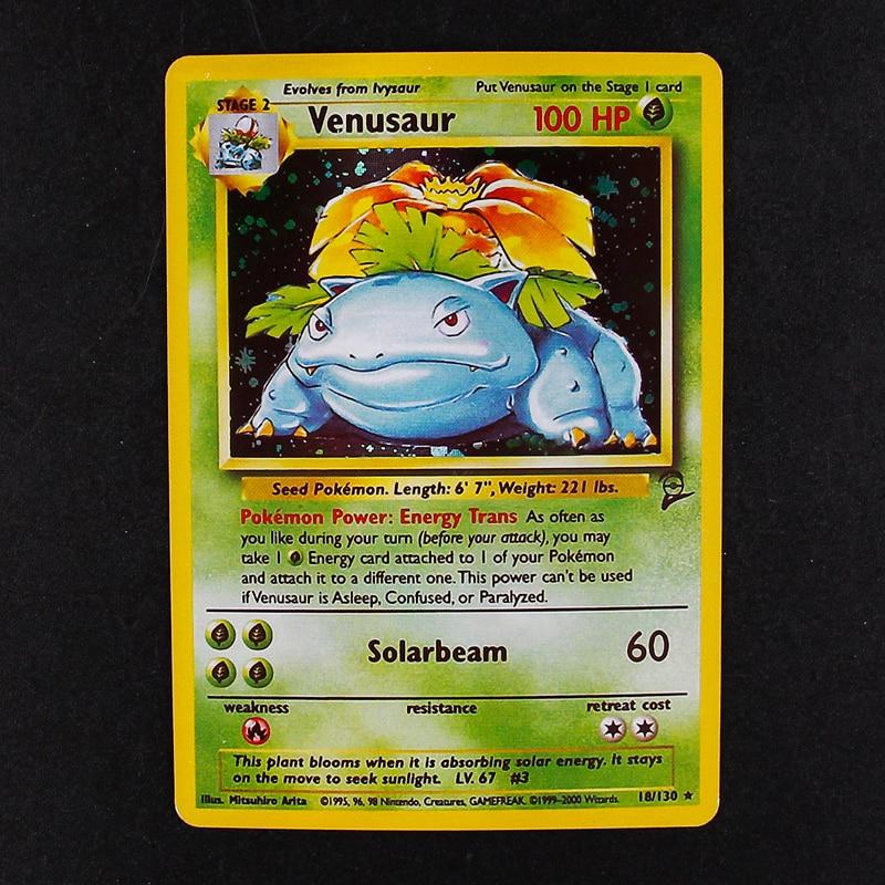 TOMY 5 шт./лот Pokemon Charizard Blastoise Venusaur Mewtwo Мега флеш-карты POKEMON игровая коллекция карт