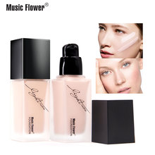 Music Flower Waterproof Moisturizing Long-lasting Light Feather Nude Muscle Refreshing Foundation Make up Base
