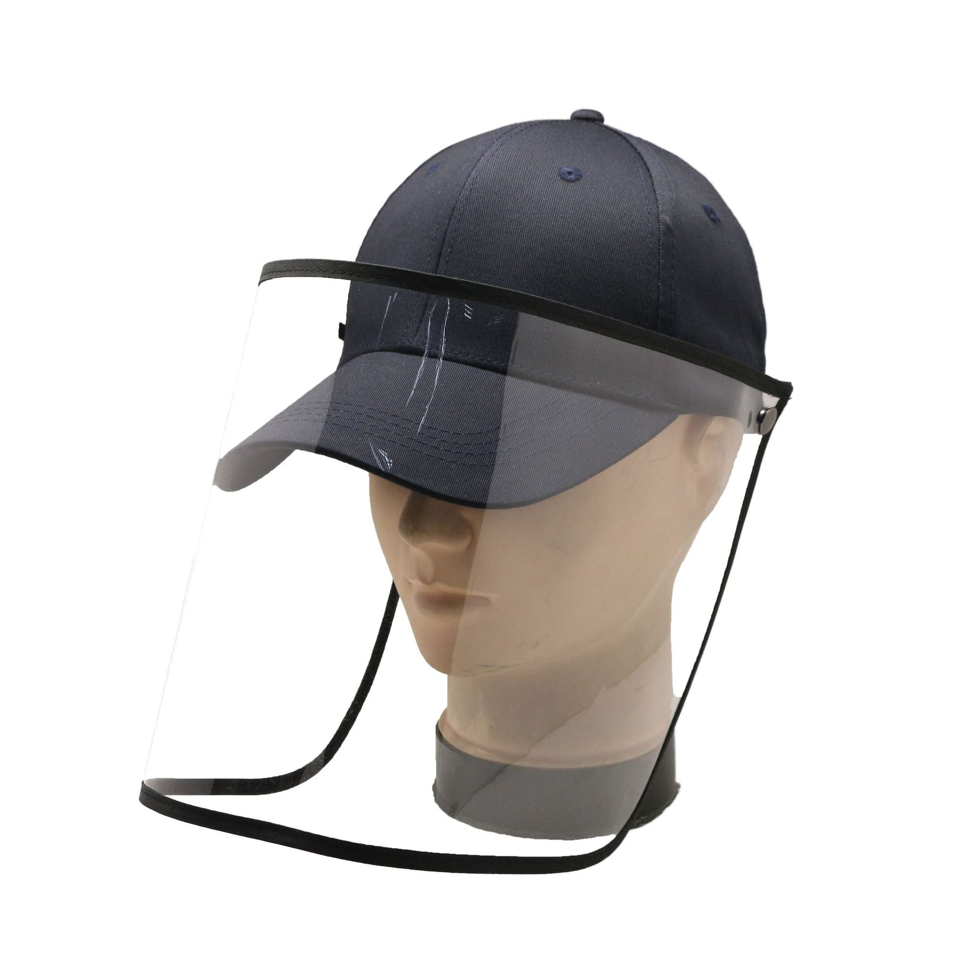 Full Face Mask Protective Visor Hat Sun Cap With Protection Clear Saliva-proof Dust-proof Sun Safety Hat Anti-Virus Mask Saliva