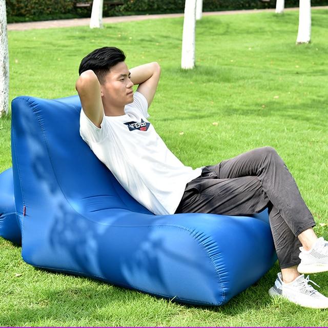 Modern Outdoor Sofa Blue color 1