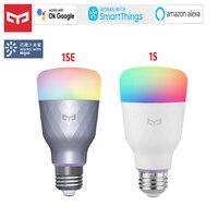 Mijia Yeelight-bombilla LED inteligente 1S 1SE, 800 lúmenes, E27 Lemon, para Mi aplicación para hogares, color blanco/RGB