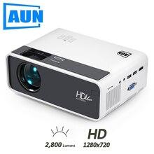 AUN MINI projecteur D60, 2800 Lumens 1280x720P, Proyector de LED pour Home Cinema 1080P, projecteur vidéo 3D WIFI Android D60S en option.